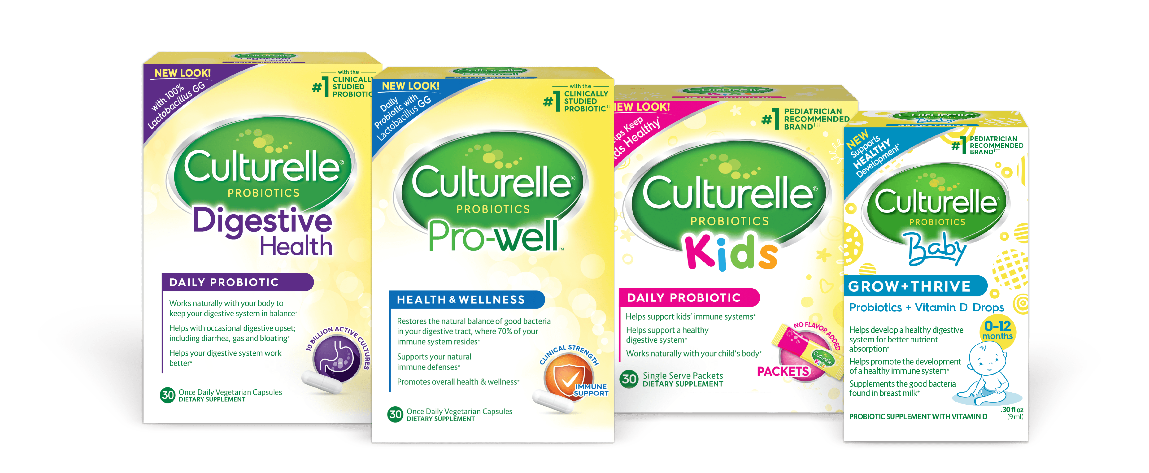 Four Culturelle product boxes