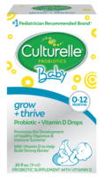 Culturelle baby grow and thrive drops product box