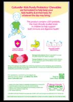 Back of Culturelle® Probiotics Kids Chewables Box