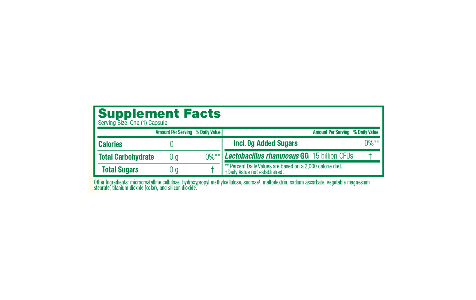 Culturelle® Vegetarian Health and Wellness (Health Food) supplemental facts