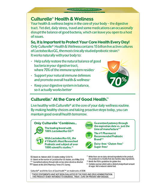 Back of Culturelle® Vegetarian Health and Wellness (Health Food) Box