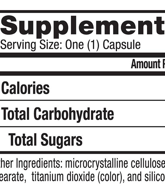 Culturelle® Vegetarian Health and Wellness supplemental facts