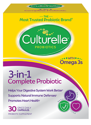Culturelle® 3-in-1 Complete Probiotic Front of Package