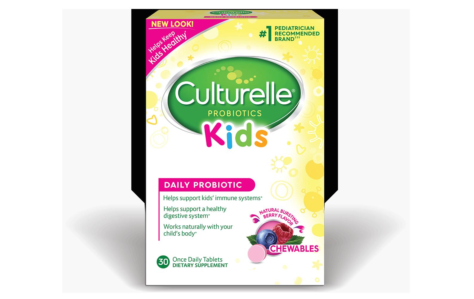 Culturelle® Probiotics Kids Daily Probiotic  Berry Chewables