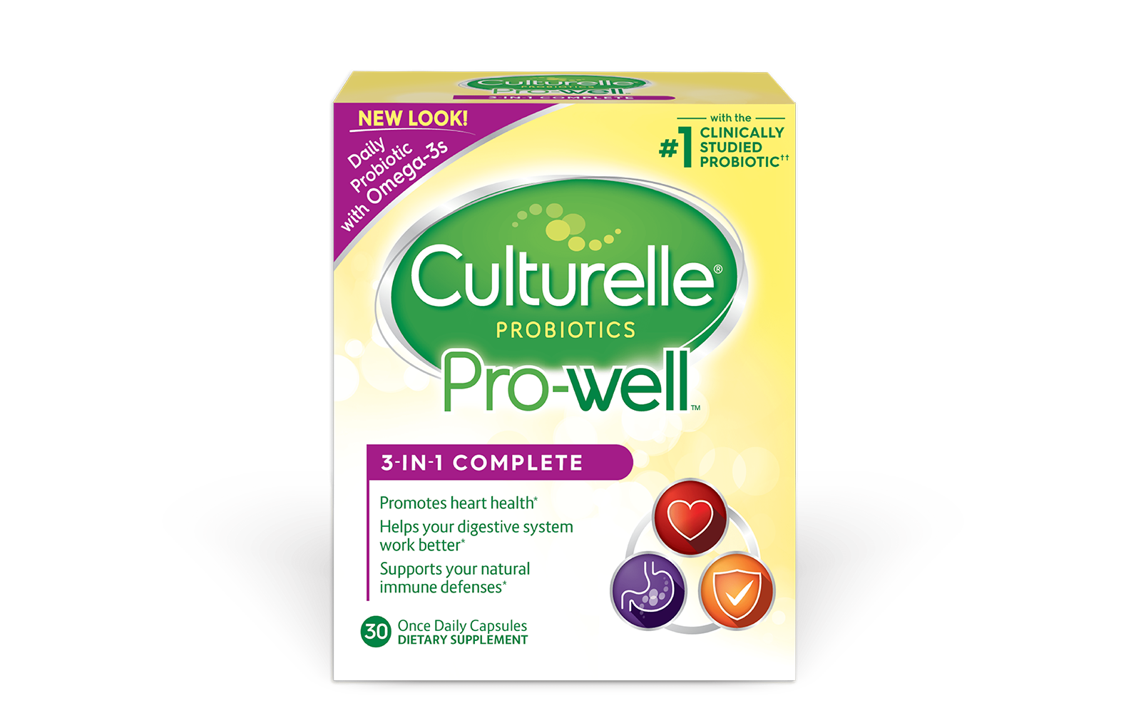 Culturelle® Probiotics Pro-Well® 3-in-1 Complete