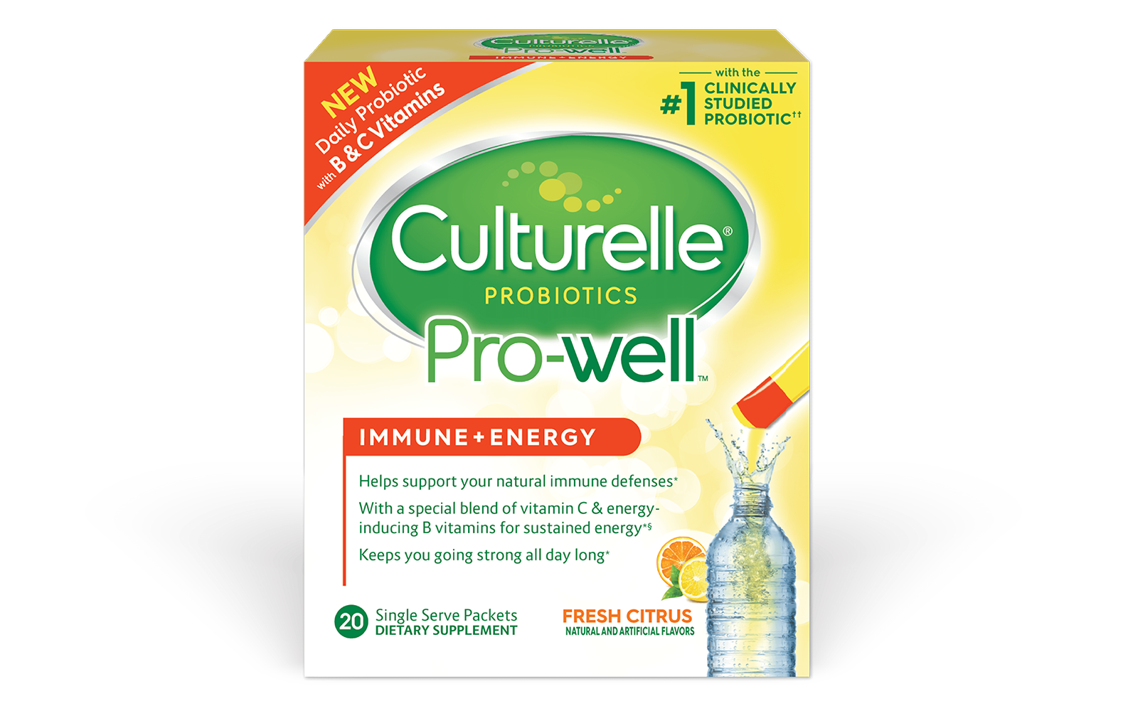 Culturelle® Probiotics Pro-Well® Immune + Energy