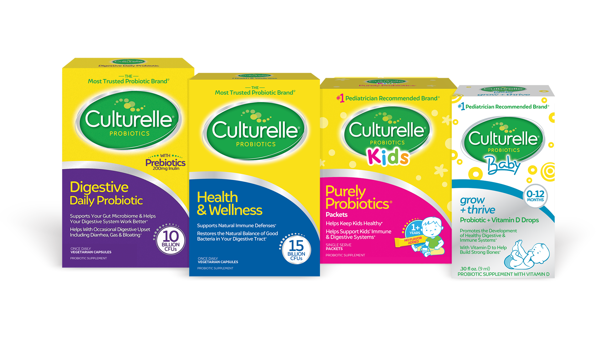 Four Culturelle product packages