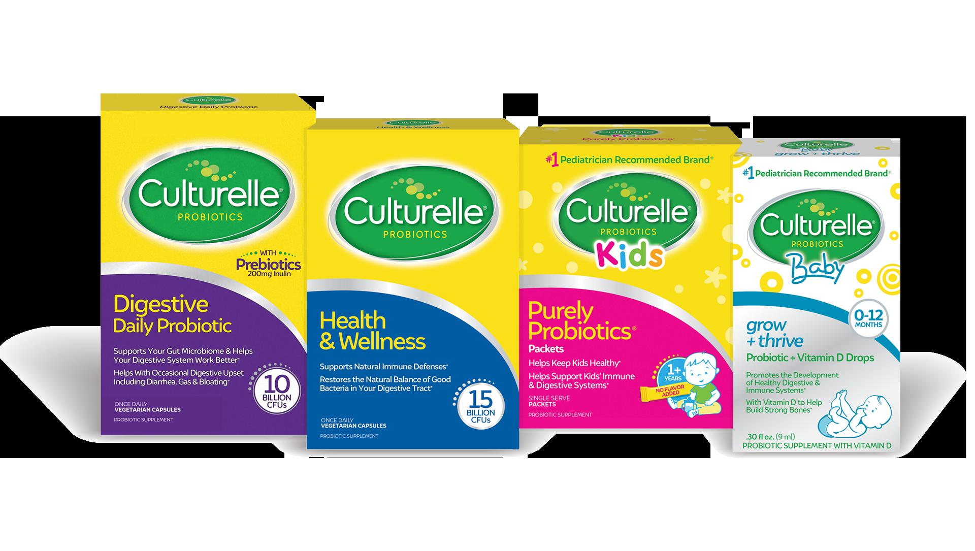 Four Culturelle product packages